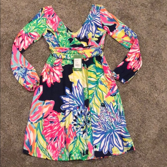 af4e6f4af41877 Lilly Pulitzer Dresses & Skirts - NWT Lilly Pulitzer Fleur Travelers Palm XS